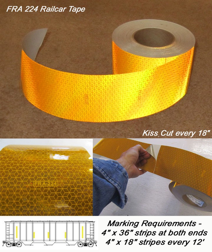 18670 ORALITE Polyester Reflective Tape,W 1 In,SB Yellow School Bus Yellow