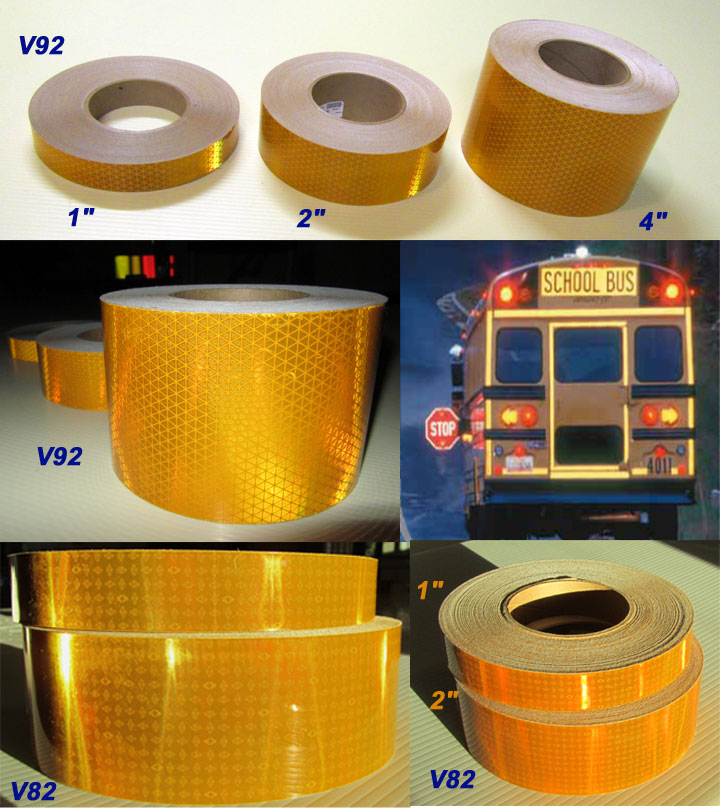 school bus reflective tape dot